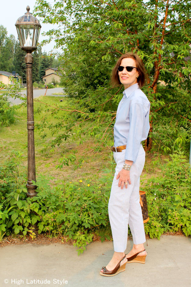 #fashionover40 #fashionover50 men's wear summer outfit for work | High Latitude Style | http://www.highlatitudestyle.com