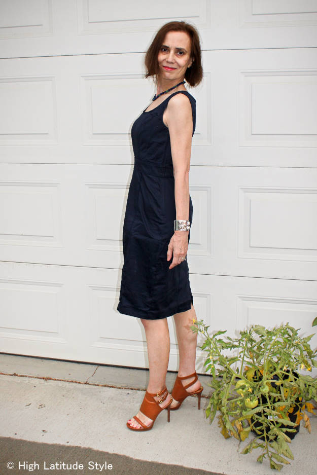 #over40style #over40fashion #over50fashion sheath dress for work | High Latitude Style | http://www.highlatitudestyle.com