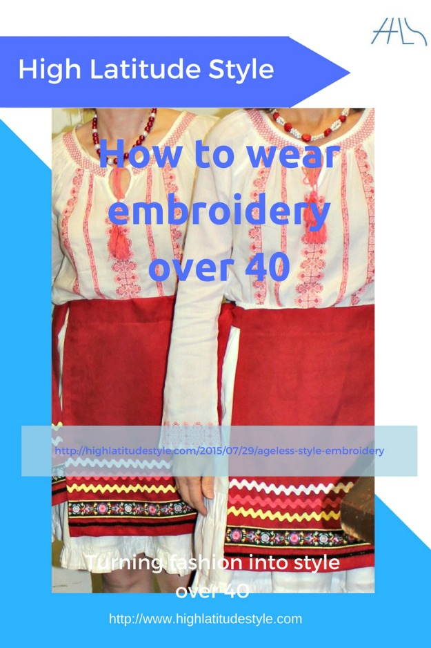 fashion over 40 how to wear embroidery