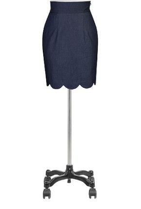 scalloped skirt