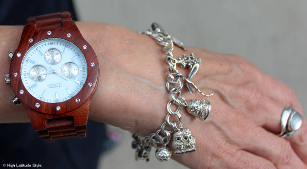 #coolwatch #uniquewatch #woodwatch wood watch and Alaska charm bracelet @ http://www.highlatitudestyle.com