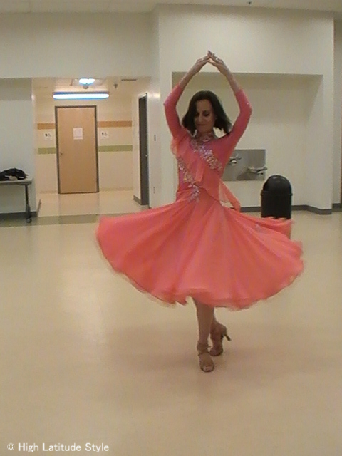 Dancing with the Fairbanks Stars twirling