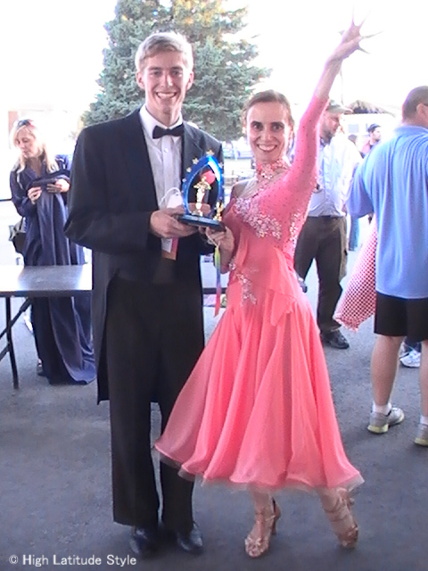 over 50 year old woman winning third prize at the Dancing with the Fairbanks Stars