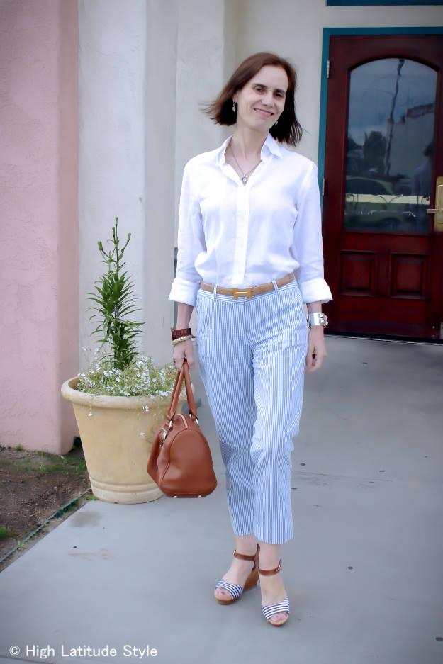 #maturefashion summer office look with pants | High Latitude Style | http://www.highlatitudestyle.com