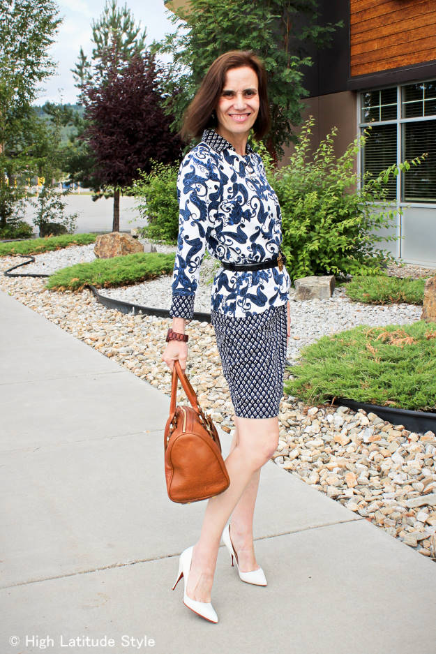 #fashionover40 #fashionover50 mixed prints for work | High Latitude Style | http://www.highlatitudestyle.com