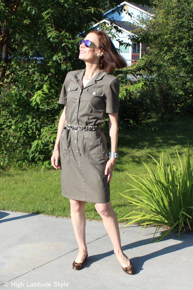 #fashionover40 #fashionover50 Top of the World Style linkup party every Thursday, example of fall military trend inspired outfit @ High Latitude Style @ http://www.highlatitudestyle.com