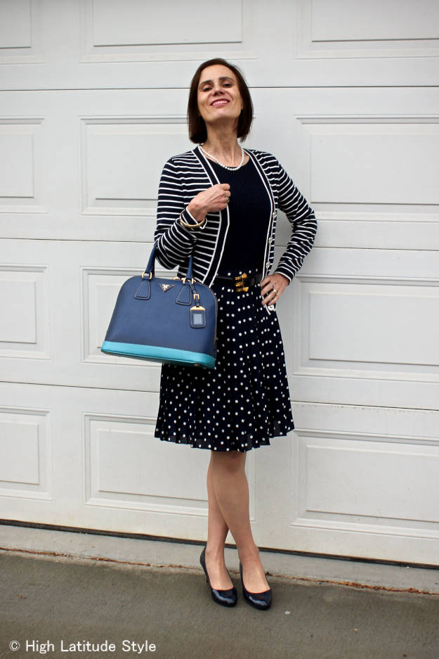 fashion over 50 fall outfit with summer pieces