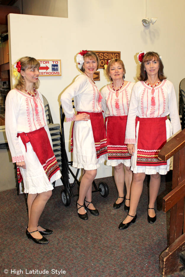 Friends in Dance waiting for their performance of a Russian dance