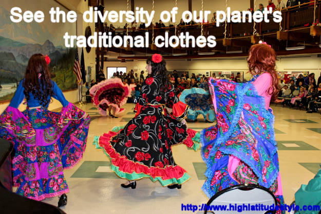 #fashionover40 #fashionover50 dance Read about the international traditional clothes featured at Fairbanks International Friendship Day @ High Latitude Style @ http://www.highlatitudestyle.com