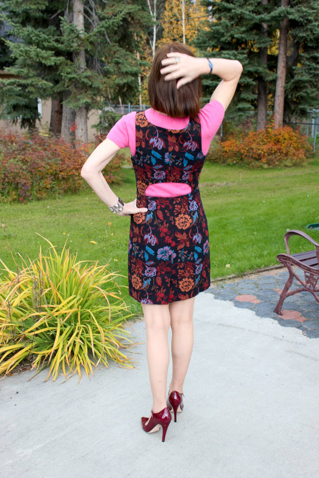 #fashionover50 Best looks of September - work appropriate cutout dress @ High Latitude Style @ http://www.highlatitudestyle.com
