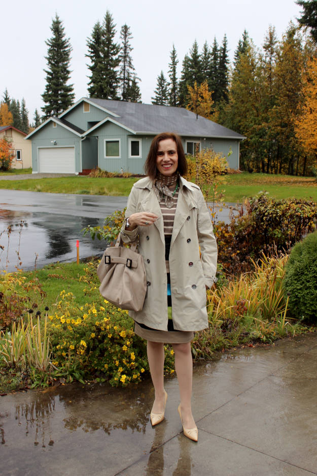mature fall outerwear outfit