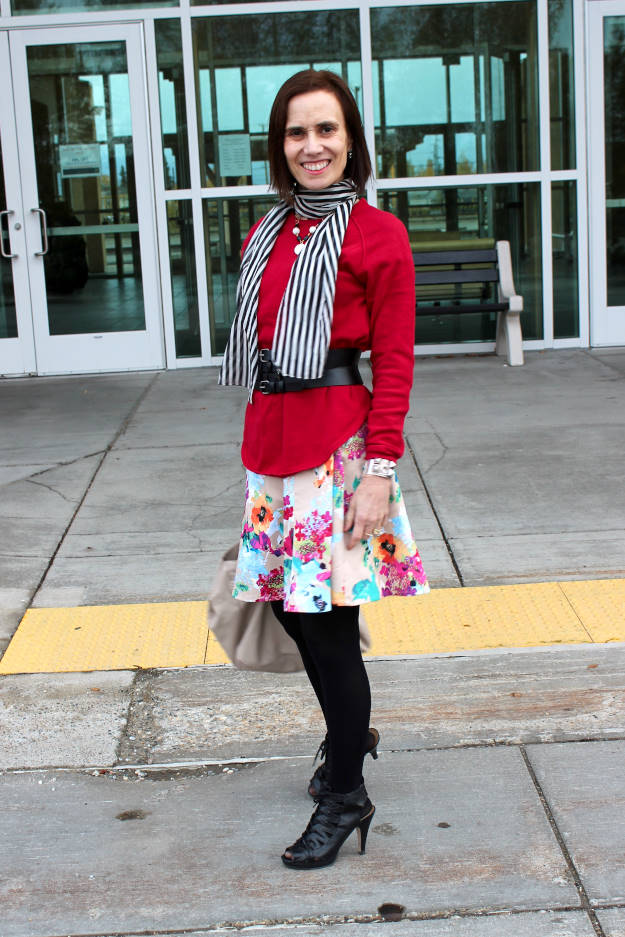 #fashionover40 #fashionover50 #agelessstyle Example how to mix prints/patter to look stylish @ High Latitude Style @ http://www.highlatitudestyle.com