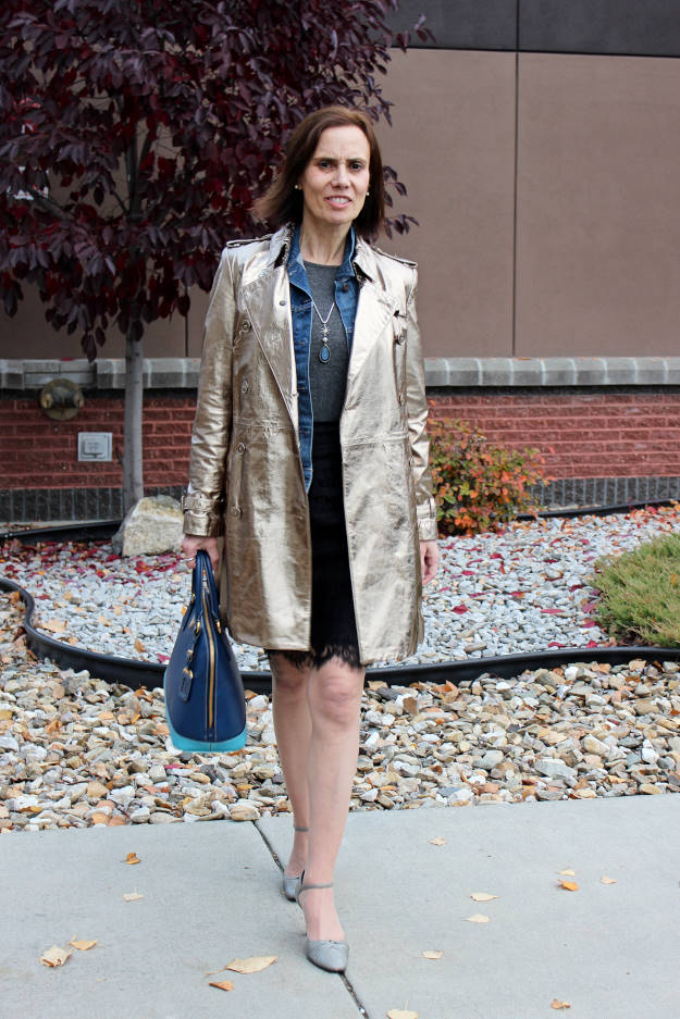 #fashionover40 mature fall work outfit outfit for a Real Woman