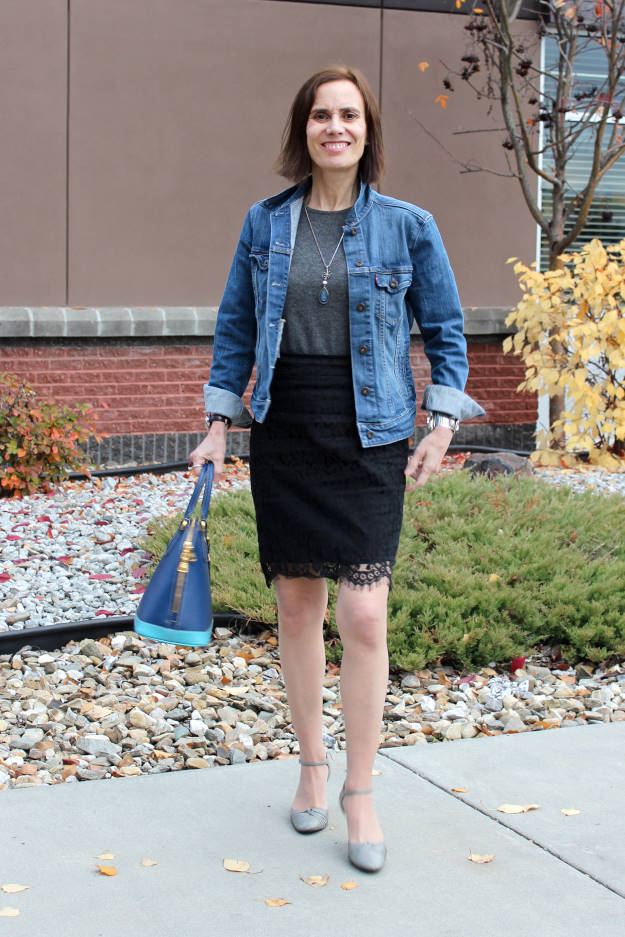 #styleover50 American classic outfit worn by a Real Woman over 50