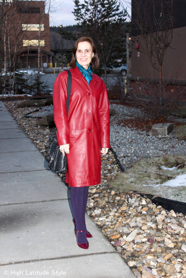 #fashionover40 #fashionover50 #Alaska fashion blog for women over 40  - outfit in twilight @ High Latitude Style @ http://www.highlatitudestyle.com