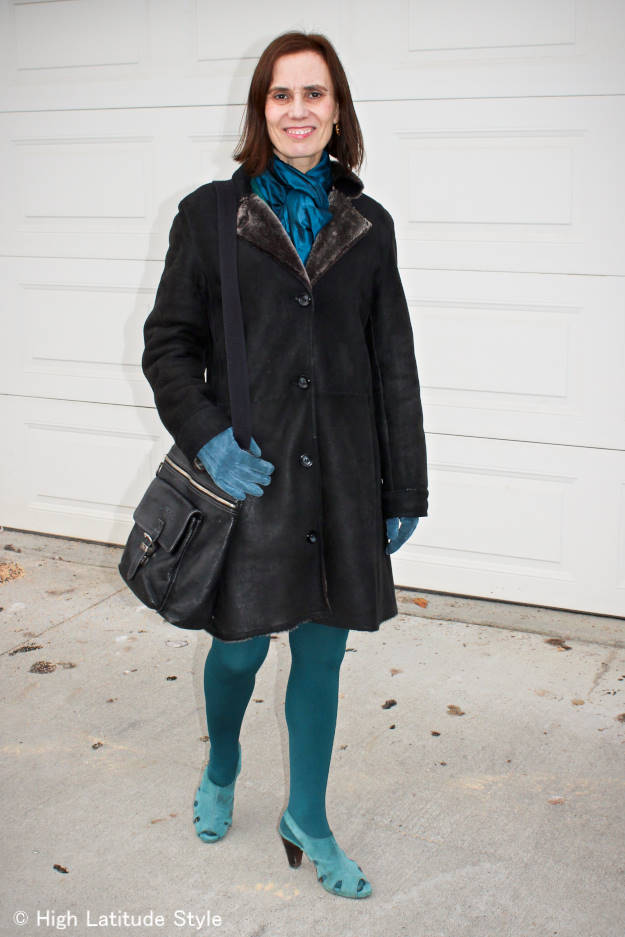 fashion over 50 monochromatic winter outerwear outfit