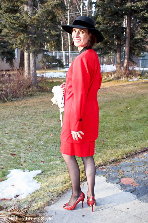 #wearingmyweddingdress #fashionover40 #fashionover50 The wearing my wedding dress challenge @ High Latitude Style @ http://www.highlatitudestyle.com