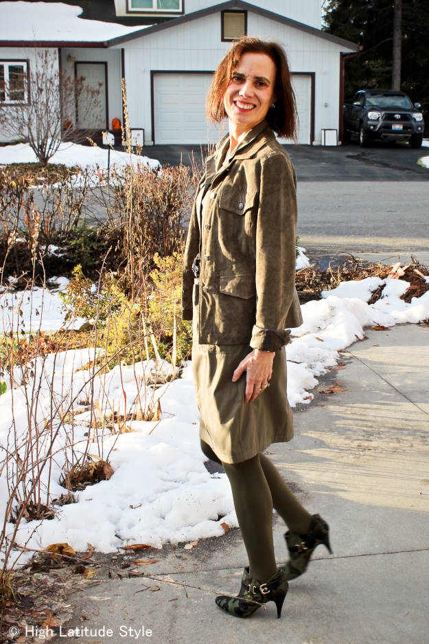 fashionover40 mature woman in utility jacket