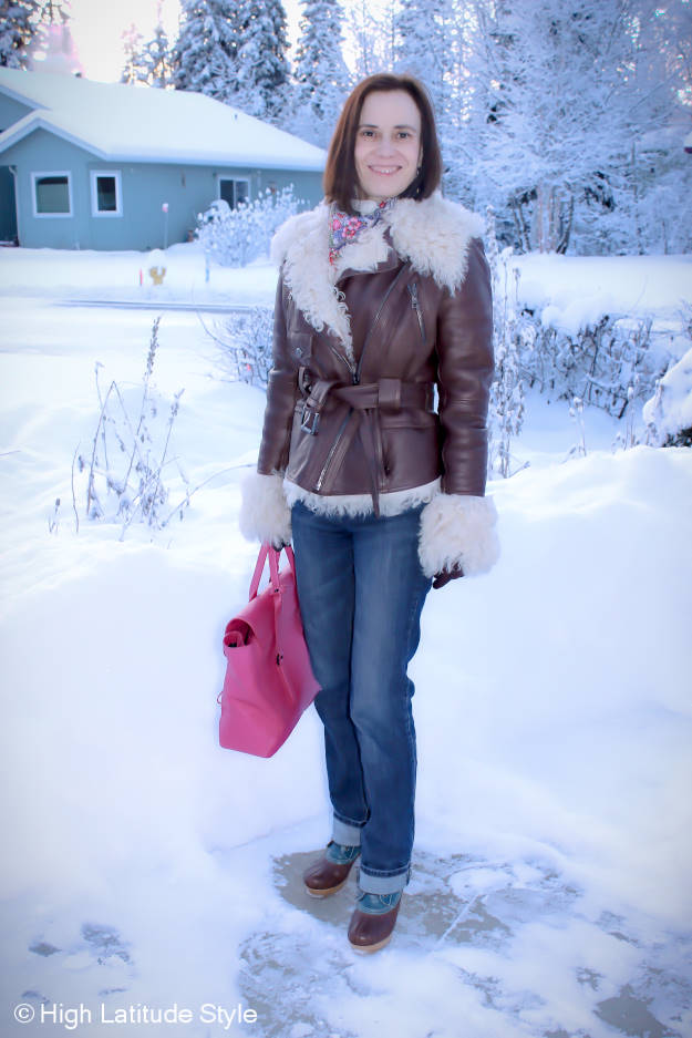 Fashion over 40 woman in outerwear