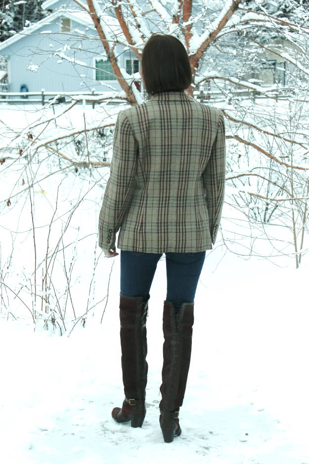 #fashionover50 Outfit with OTK boots at the Top of the World Style linkup party