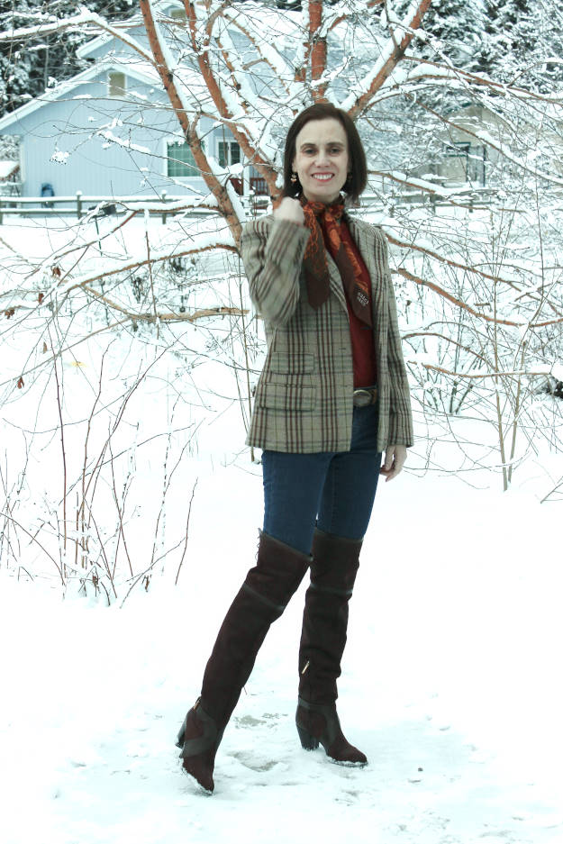 #fashionover40 OOTM over-the-knee boots over 40 @ High Latitude Style @ http://www.highlatitudestyle.com