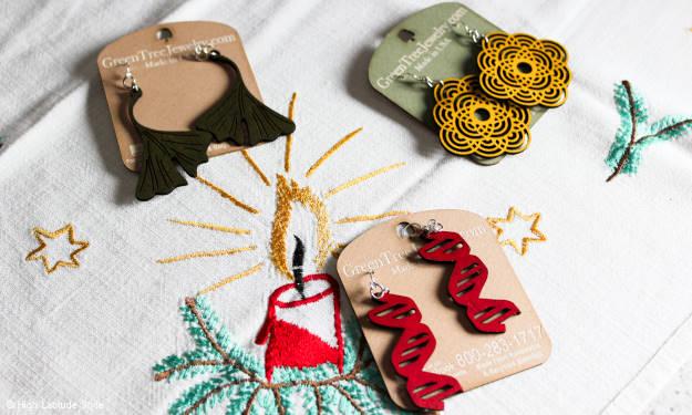 Green Tree Jewelry wooden earrings