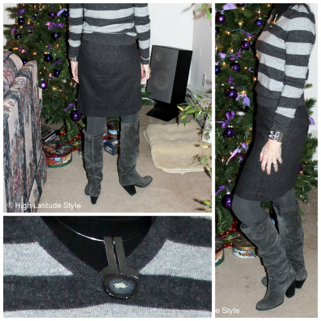 #fashionover40 styling slouchy boots for work @High Latitude Style @ http://www.highlatitudestyle.com