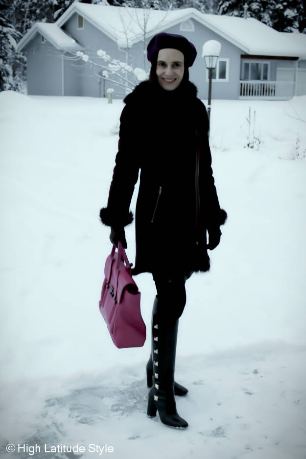 midlife fashion Winter outfit on Focus Alaska @ http://www.highlatitudestyle.com
