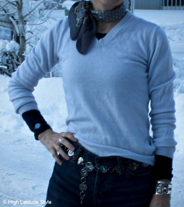 #halftee layering and styling inspirations for mature women @ High Latitude Style