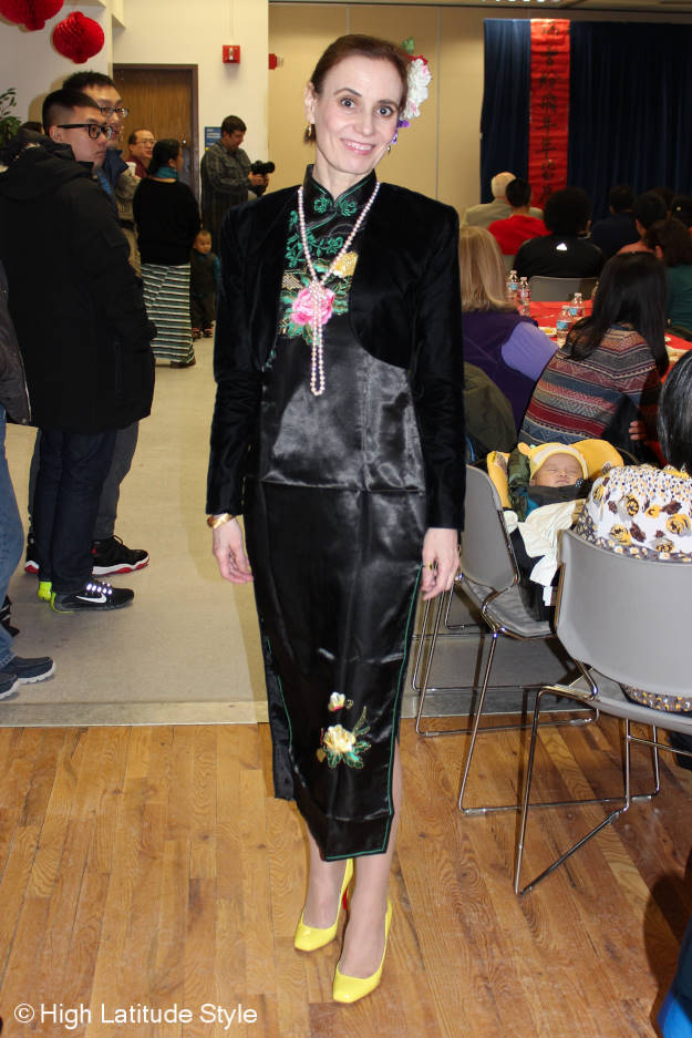 #fashionover40 outfit for Chinese New Year's party @ http://www.highlatitudestyle.com
