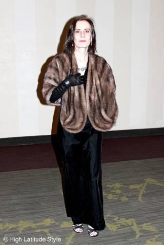 #fashionover40 black velvet ball gown @ High Latitude Style @ http://www.highlatitudestyle.com
