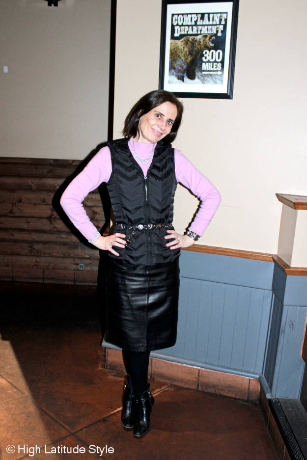 Fashion over 40 How to look stylish in down clothes