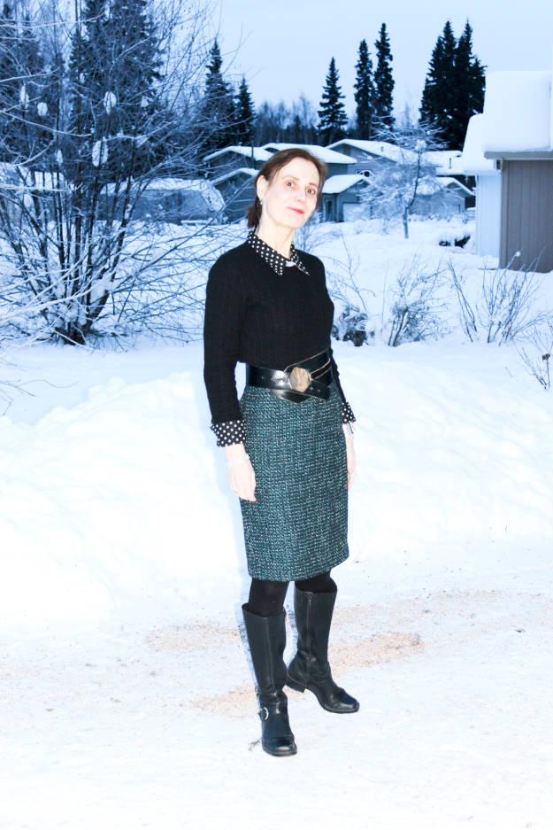 fashion over 40 winter work outfit