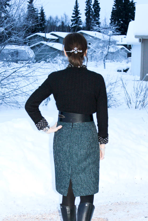fashion over 50 winter office outfit