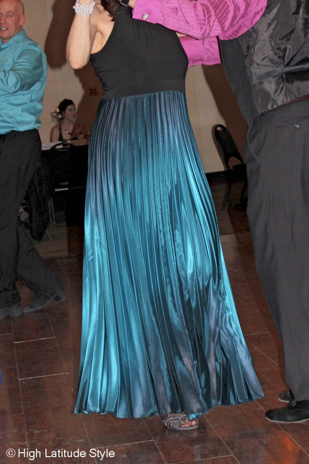 I liked this gown as it changed colors with every movement