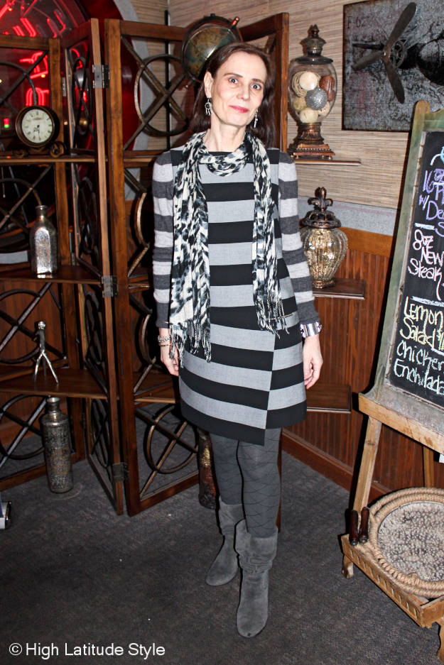 #Fashionover50 all gray winter work outfit at the Top of the World Style linkup party @ http://www.highlatitudestyle.com