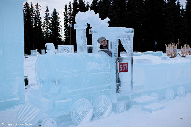 #travel on the ice train thru Alaska more @ http://www.highlatitudestyle.com