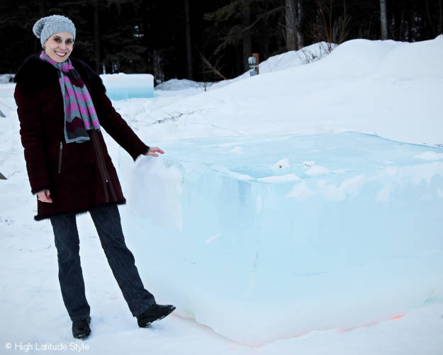 #Alaskatravel ice sculpture raw material - a giant ice cube more @ http://www.highlatitudestyle.com