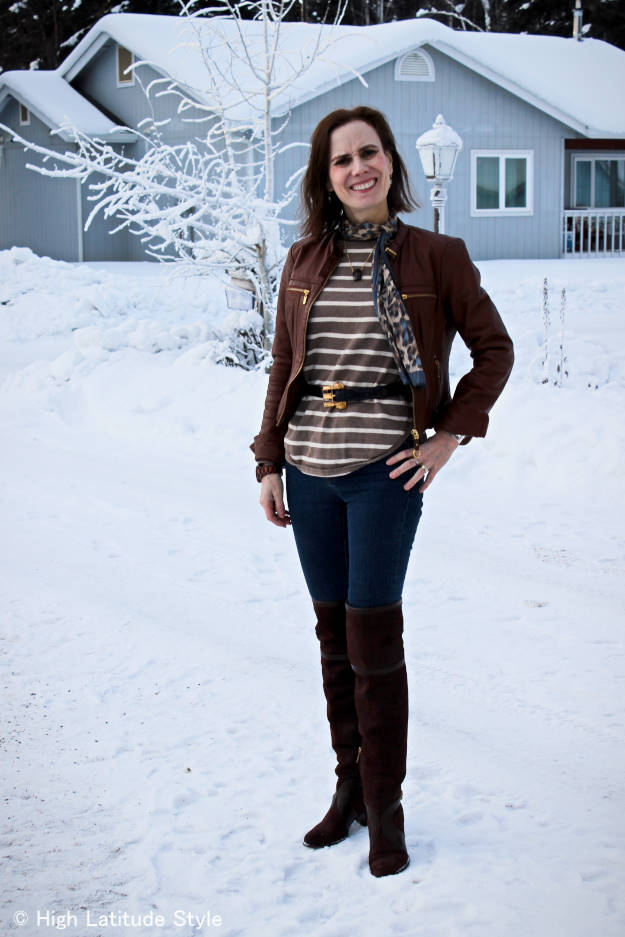 #fashionover50 weekend outfit in Focus #Alaska #travel @ http://www.highlatitudestyle.com