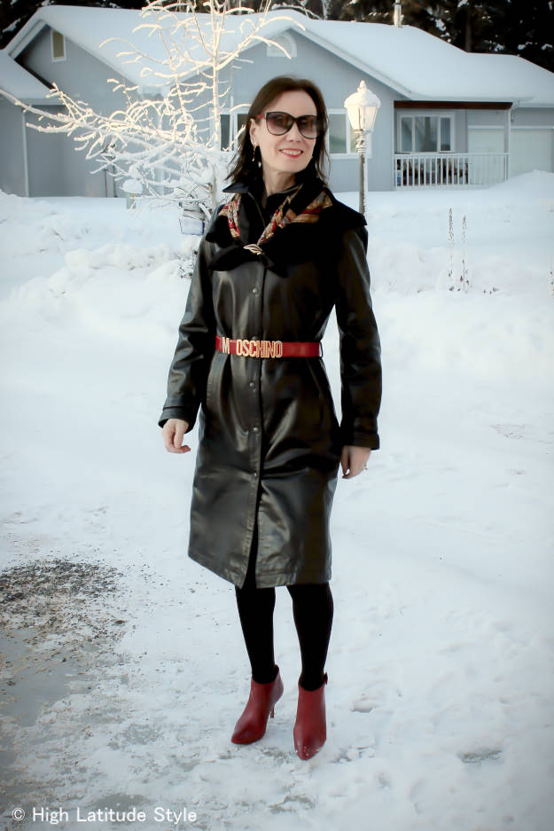maturefashion Styling a leather dress for work