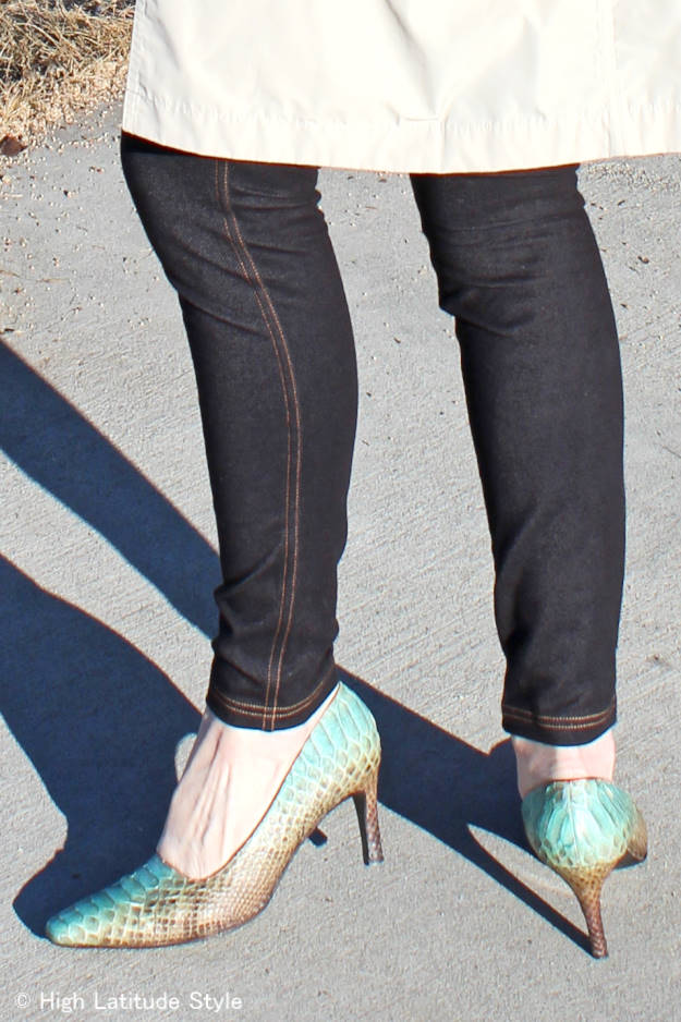 #Nononsense #review zoom-in on black denim leggings @ http://www.highlatitudestyle.com
