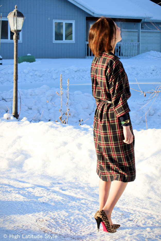 #styleover50 Plaid shirt dress for the office @ High Latitude Style