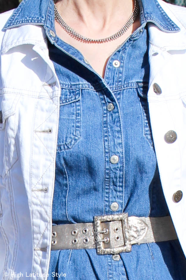 #jewelryover40 statement belt and necklace @ High Latitude Style http://wp.me/p3FTnC-4Mh