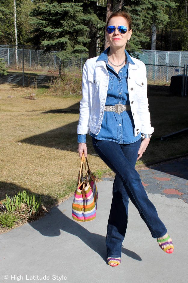 #fashionover50 OOTD Texas tuxedo style @ http://wp.me/p3FTnC-4Mh