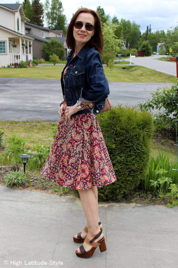 mature style  Work outfit with Leiza sandals
