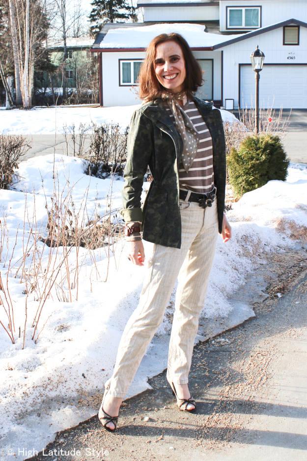 #fashionover50 Alaska casual spring outfit @ http://www.highlatitudestyle.com