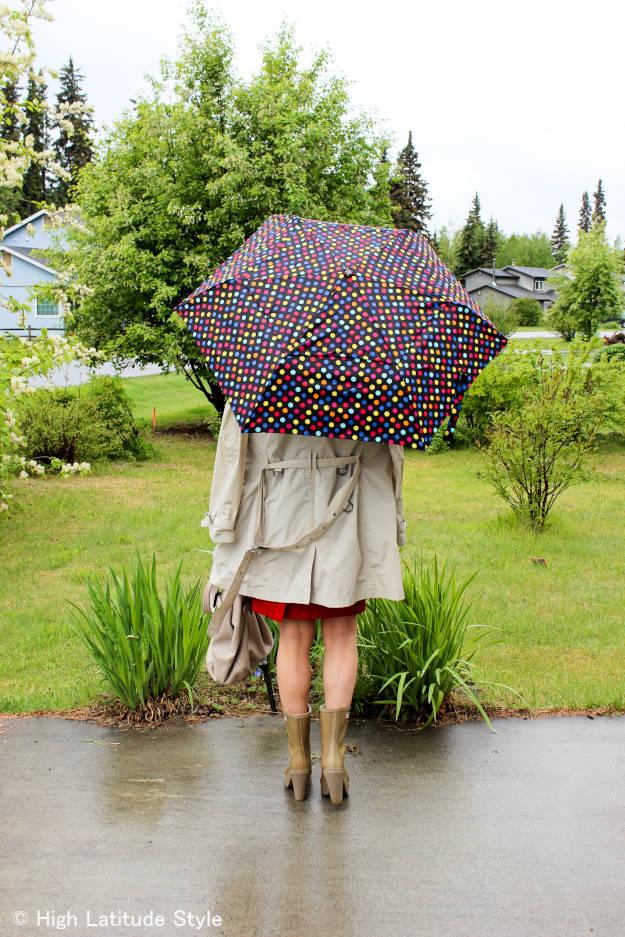 #fashionover40 Rain outfit