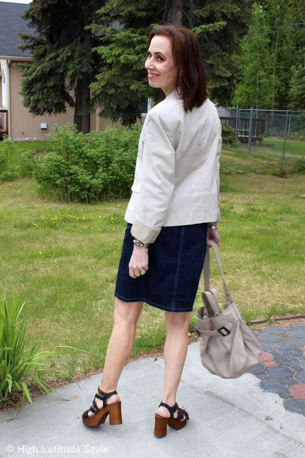 #Musse&Cloud #review #coolway Mature outfit with Malena strappy Musse & Cloud sandals