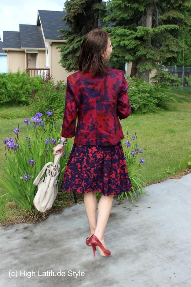 #fashionover50 mixing two floral pattern in one outfit @ http://wp.me/p3FTnC-4Nh