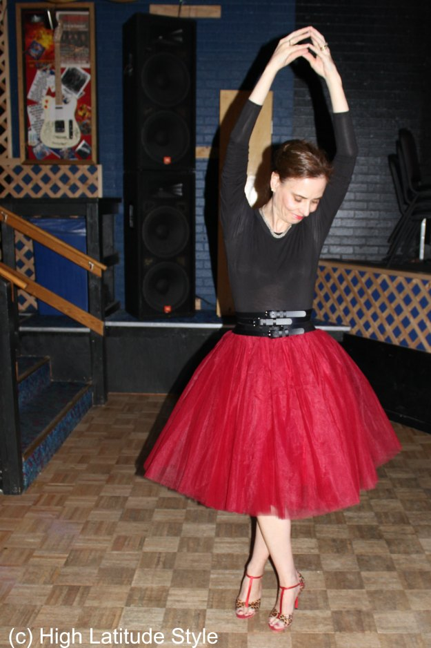#fashionover40 Mature woman in tutu